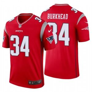 Men Rex Burkhead #34 New England Patriots Jersey